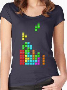 #1 TETRIS FAN Women's Fitted Scoop T-Shirt