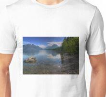 Glacier National Park Lake and Mountains Unisex T-Shirt