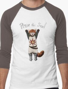 Sun Warrior Red Panda! Men's Baseball ¾ T-Shirt