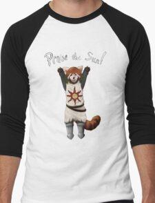 Sun Warrior Red Panda! Men's Baseball ¾ T-Shirt