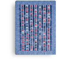 Flying Geese Quilt In Red, White And Blue Canvas Print