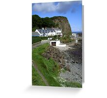 Port of the salmon - Portbradden, Northern Ireland Greeting Card