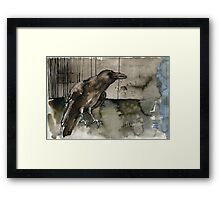 cave and eggshell Framed Print