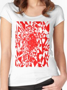 red stripes Women's Fitted Scoop T-Shirt