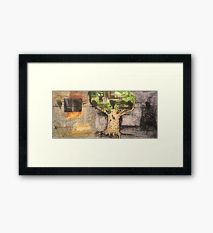 downpour Framed Print