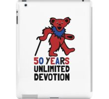 Grateful Dead 50th Anniversary - Dancing Bear - Unlimited Devotion iPad Case/Skin