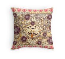 lord Rama and laxman  kalamkari Throw Pillow
