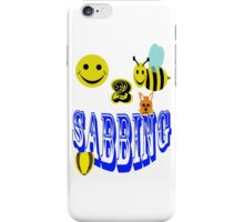 happy2bee sabbing iPhone Case/Skin