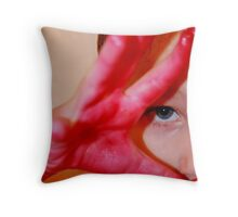 Red-Handed Throw Pillow