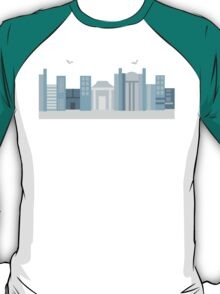 Blue City Skyline T-Shirt