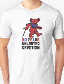 Grateful Dead 50th Anniversary - Dancing Bear - Unlimited Devotion T-Shirt