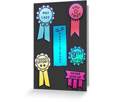 Award For The First Loser Greeting Card
