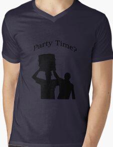 Party Time Mens V-Neck T-Shirt