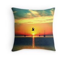 Early Morning Commuter Throw Pillow