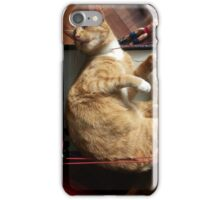 silly trapper cat wants to wrestle iPhone Case/Skin