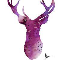 Abstract deer head artwork for sale by Joanna Szmerdt