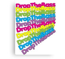 Drop The Bass (Rainbow Color)  Canvas Print