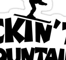 Rockin' the Mountains (Skiing) Sticker