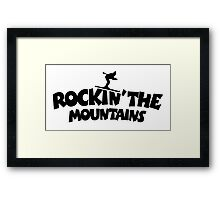 Rockin' the Mountains (Skiing) Framed Print