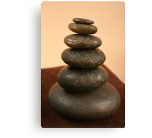 Hot Stone Massage Canvas Print
