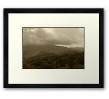 Stormy Mountain Top Framed Print