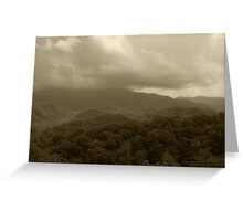 Stormy Mountain Top Greeting Card