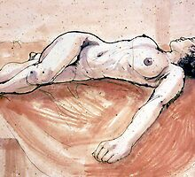 Female nude sleeping by Roz McQuillan