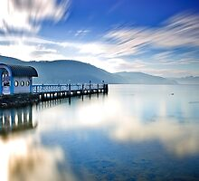 Lake Wörthersee in Winter by Delfino