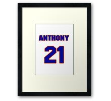 National baseball player Anthony Telford jersey 21 Framed Print