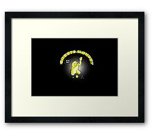 CHEESE MONKEY - loves to be nibbled Framed Print