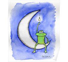 Howard Ligting the Moon Poster