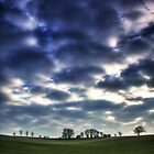 Misty Linslade Morning (Portrait HDR) by Dale Rockell