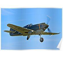 P-40B Warhawk 41-13297 G-CDWH Poster