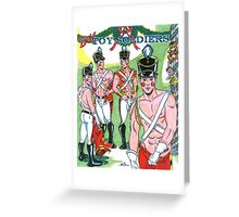 Boy Toy Soldiers Greeting Card