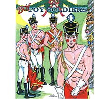 Boy Toy Soldiers Photographic Print