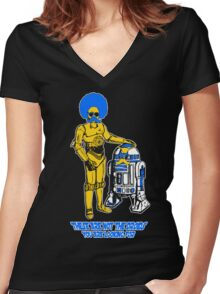 Not the droids you are looking for Women's Fitted V-Neck T-Shirt