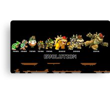 The Evolution of Bowser Canvas Print