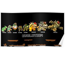 The Evolution of Bowser Poster