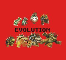 The Evolution of Bowser One Piece - Long Sleeve