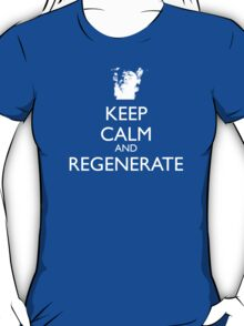 Dr Who - Keep Calm And Regenerate T-Shirt