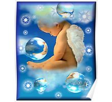 Sleeping Baby Angel Poster