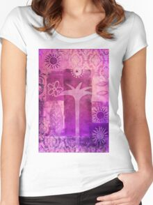 Tropical Impression Women's Fitted Scoop T-Shirt