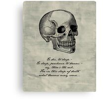 Hamlet - Shakespeare Canvas Print
