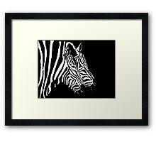 Merging Zebras Framed Print