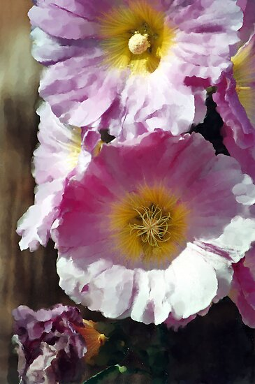 Hollyhock Impression by Michelle BarlondSmith