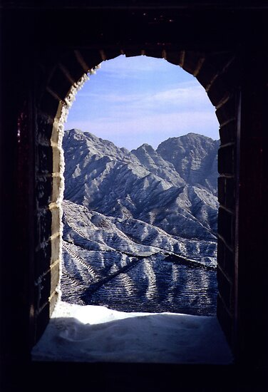 Great Wall of China in the winter by Hannah Nicholas
