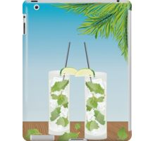 Mojito cocktail on the table iPad Case/Skin
