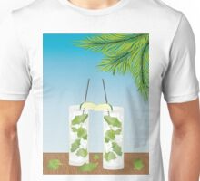 Mojito cocktail on the table Unisex T-Shirt