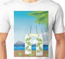 Mojito cocktail on the table 2 Unisex T-Shirt