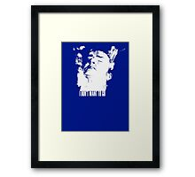 Dr Who - Tennant Regeneration Framed Print